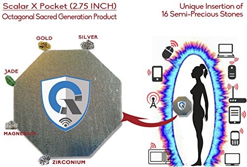 Tragbarer EMF-Blocker Persönliches Energiefeldgerät Technologie für geopathische Stresszonen Internationaler GOLD AWARD Anti-Bestrahlung Schutzschild Neutralisator gegen elektromagnetische strahlung EMF Protection (Seltene Patch)