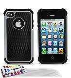 Muzzano - Cover semi rigida ultra sottile 'Sport Case' per Apple iPhone 4/4S, design curato esclusivo,...