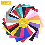 PU wärmeübertragung Vinyl with16Couleurs * 10inch (12) pour T–Shirt–Sport–Vêtements de Vêtements et tissus légers, gras et Presse