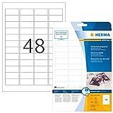 Herma 4232 Étiquettes de sécurité 45,7 x 21,2 A4 LC Blanc