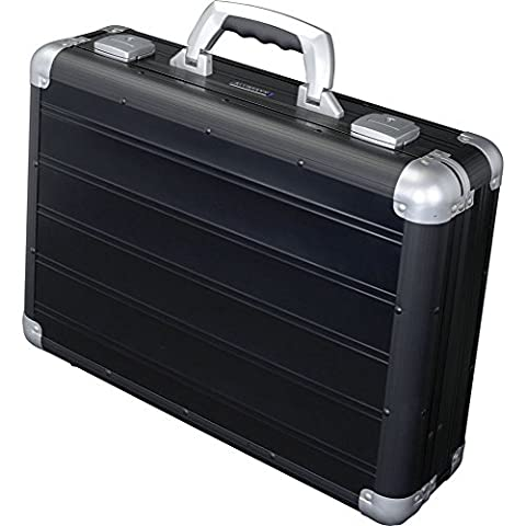Alumaxx Attachékoffer VENTURE Alukoffer mit verstärkten Kanten, ergonomischem Tragegriff und herausnehmbarem Inlay Aluminium schwarz matt