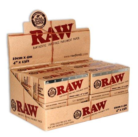 RAW Pergamentpapier-Rolle, unraffiniert, 12 Rollen, 100 mm