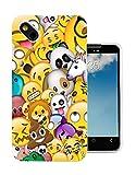 002756 - Emoji Collage Bomb Panda Unicorn Poop Lion Design Wiko Sunny / Wiko B-Kool Fashion Trend Protecteur Coque Gel Rubber Silicone protection Case Coque