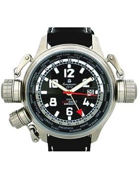 Aeromatic 1912 XXL GMT Worldtour Uhr mit Spezial-Kronen-System A1300
