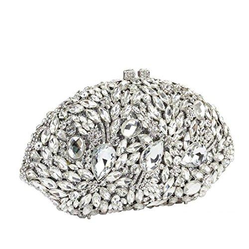Borsa Da Pranzo Con Pochette Donna Borsa Con Manico In Diamante Grigio