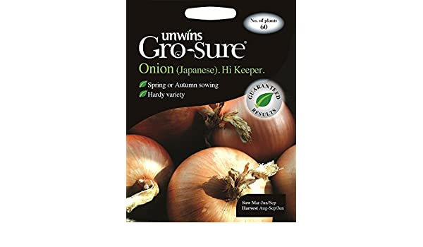 Unwins Pictorial Packet Onion Japanese Hi Keeper F1-60 Seeds