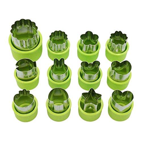 elstahl-Frucht-Blumen-Form-Cutter Salat Carving Gemüse Mold Küchenhelfer Plätzchen Fondant ()