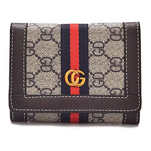 2018 neue europäische und amerikanische Mode Damen Tasche atmosphärischen Druck kleine quadratische Tasche Damen Farbe gestreift Messenger Bag Umhängetasche(Brown, 12 * 9 * 2 cm)