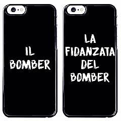 Idea Regalo - Coppia di cover Iphone 6/6S - Case protettiva,rigida, per Apple Iphone 6/6S Bomber e la fidanzata del Bomber