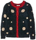 NAME IT Mädchen Strickjacke NMFNABILLE LS Knit Card, Mehrfarbig (Dark Sapphire), 104