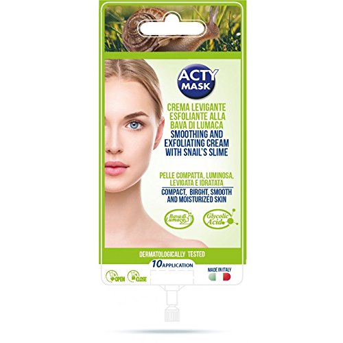 ACTYMASK - CREME VISAGE EXFOLIANTE LISSANTE A LA BAVE D'ESCARGOT - sachet 15 ml 10 applications