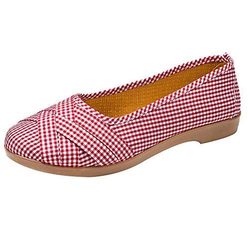 Damen Schuhe,TWBB Gitter Breathable Flache Schuhe Niedrig Arbeiten Weiche Schuhe Stoffschuhe