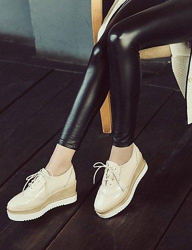 ShangYi Scarpe Donna - Ballerine - Ufficio e lavoro / Casual / Sportivo - Zeppe / Punta arrotondata - Piatto - Finta pelle - Nero / Rosso / Beige Black