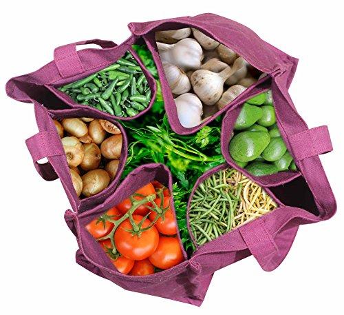 Ryan Overseas Cotton Vegetable Carry Bag/Reusable Bag - 12 x 14.5 (wxl)