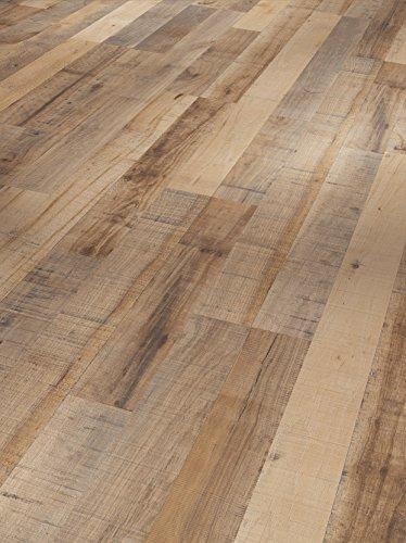 Parador Klick Laminat Bodenbelag Basic 200 KastanieVintage Braun Schiffsboden 2-Stab Seidenmatte Struktur 2,991m² hochwertige Holzoptik braun/grau, 7 mm, einfache Verlegung -