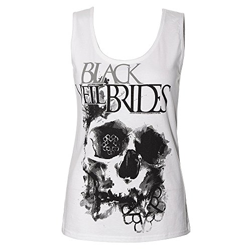 Cannottiera Dei Black Veil Brides Skullogram (Bianco) - Small