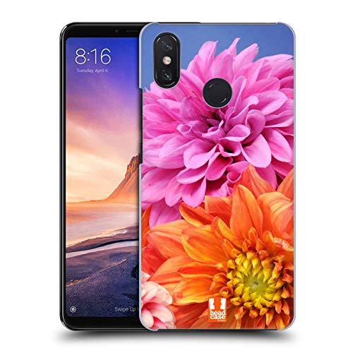 Head Case Designs Orange Und Rosa Dahlien Blumen Ruckseite Hülle für Xiaomi Mi Max 3