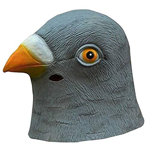 Taube Kostüm Maske - TOOGOO Tauben Maske Latex Riesen Vogelkopf Halloween Cosplay KostüM Theater StüTze Masken für Party Geburtstag Dekoration