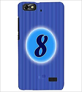 PrintDhaba Numerology Number 8 D-2563 Back Case Cover for HUAWEI HONOR 4C (Multi-Coloured)