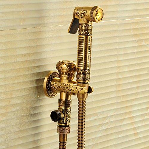 HCP pistolet antique robinet toilette pleine de cuivre/Bidet buse turbocompresseur/bidet/Kit de rinçage-A