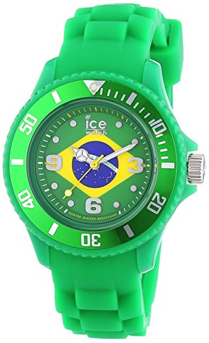 ICE-Watch World Women's Quartz Watch with Multicolour Dial Analogue Display and Green Silicone Bracelet WO.BR.S.S.12