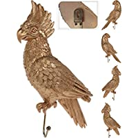 Rebel Velvet Gold Parrot Coat Hangers/Hooks - Set of 4