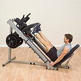 Body-Solid 3in1 Beintrainer Beinpresse 45° Hackenschmidt Wadentrainer Kraftstation Fitness Leg Press Hack Squat Glph-1100 - 5