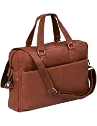 ''Stanford'' - Laptoptasche by CB in Echt-Leder, cognac - ''LEAS Classic Bags''