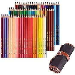 Tomkity 72 Lápices de Colores con Caja Regalo Ideal para Artistas, Adultos y Niños (72 Lápices+bolso-style2)