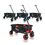 SAMAX Carrito de Off-Road Plegables Carros Playa de Carro Bolsa Nevera Carro de Mano Offroad Cool - Negro / Rojo