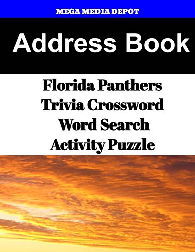 Address Book Florida Panthers Trivia Crossword & WordSearch Activity Puzzle por Mega Media Depot