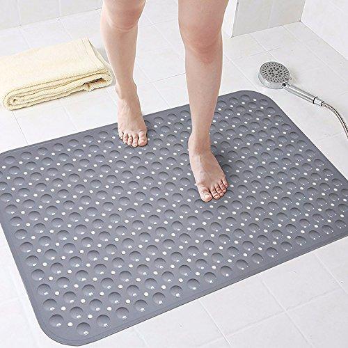 NSSBZZ*Anti-Rutsch-Matte Badezimmer-WC-Matte Duschmatte Home Bad WC Mat 58 * 88cm gray
