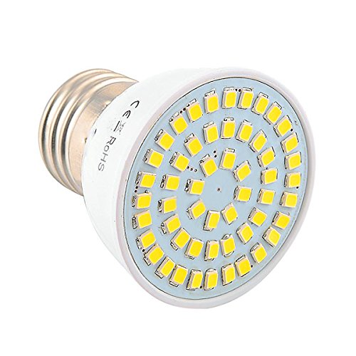 JIALUN-LED E27 54LED 5W 2835SMD 400-500Lm 4000-4500K Proyector LED blanco natural AC...