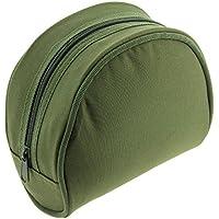 NGT–Unisex Fla–Estuche para carrete de pesca caso bolsa de transporte acolchada 282, verde, 9x 17cm