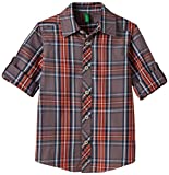 United Colors of Benetton Baby Boys' Shirt (15P5FU95Q1X0G9040Y_Charcoal and orange_0Y)