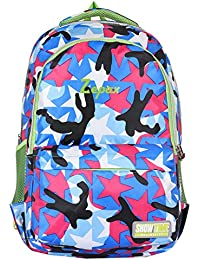 Zepax Multi Colour Stylish Printed Nylon 22.5 Liters School Or College Bag/Backpack