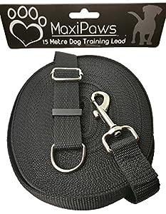 Laisse de dressage de chien professionnel 15m/15,2m de long, Laisse en nylon robuste avec tous les composants en métal