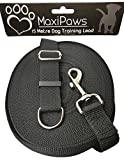 MaxiPaws Professional Dog training Lead 15M/50ft Long, Strong Nylon lead with all Metal components