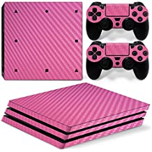 Phenovo Dustproof Console & Wireless Controller Skin Sticker For Sony PS4 PRO Pink