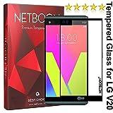 NETBOON® Premium LG V20 Tempered Glass Screen Protector Edge To Edge Coverage Screen Guard Gorilla Glass - Black