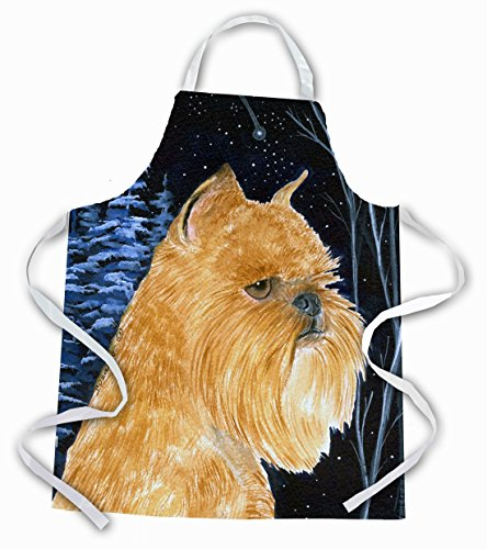 Caroline 's Treasures ss8362apron Starry Night Brussels Griffon Schürze, groß, multicolor -