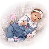NPK Collection Reborn Baby Doll Soft Silicone 22inch 55cm Newborn Baby Doll realista muñeco de vinilo muñecas jeans