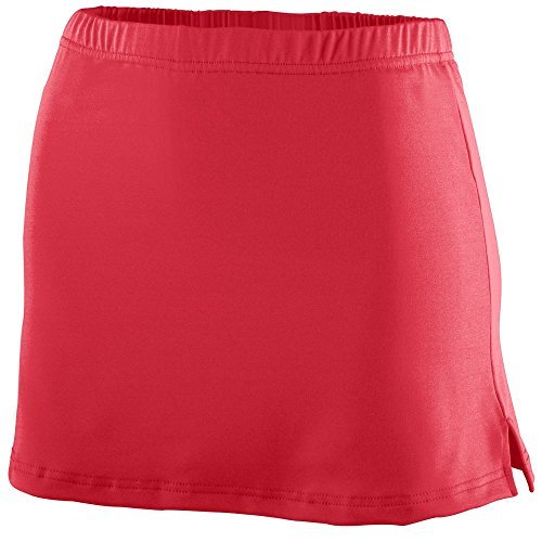 Augusta Sportswear GIRLS' POLY/SPANDEX TEAM SKORT M Red by Augusta Sportswear