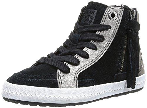 Geox Jr Witty Mädchen Sneaker Schwarz (Noir (Black))