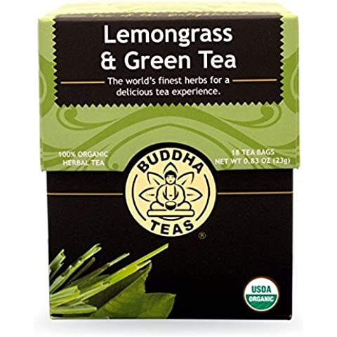 Lemongrass & Green Tea - Organic Herbs - 18 Bleach