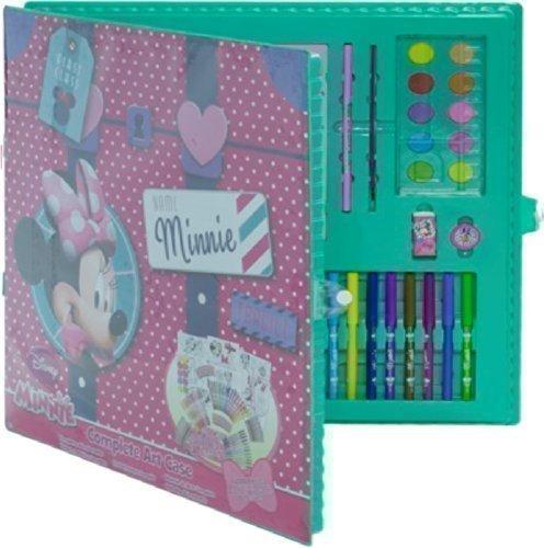 Art Set - Disney Malset 200 Teile Zeichnen Malen Kunstset Farbe Farbstifte Schutzhülle Kinder Aktivitäten Weihnachtsgeschenk - DISNEY MINNIE MOUSE DMM-4009