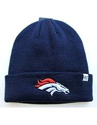 Denver Broncos sur champ bleu pliable Bonnet tricot bonnet NFL