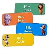 Adesivi personalizzati con nome e cognome | Adesivi personalizzati impermeabili con motivo giungla (40)