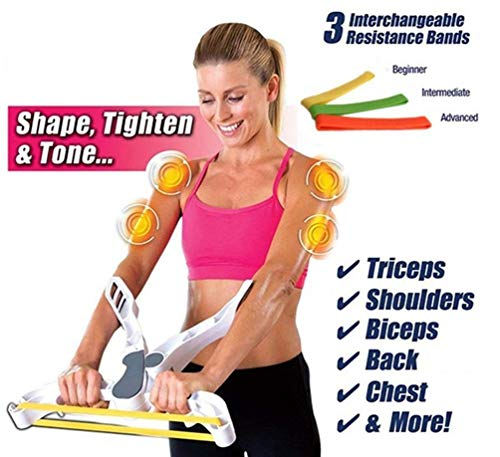 Huiron Arm Machine Workout System with 3 Resistance Training Bands Arm Machine Exercise Arm Strengthens - Armee Band