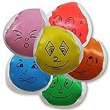 8 x HC-Handel 911337 Catchball Jonglierball Gesicht 5,5 cm